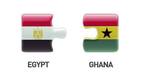 Egypt Ghana High Resolution Puzzle Concept photo
