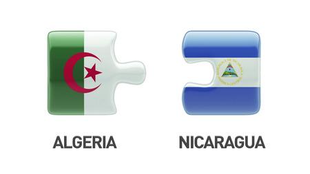 Algeria Nicaragua High Resolution Puzzle Concept photo