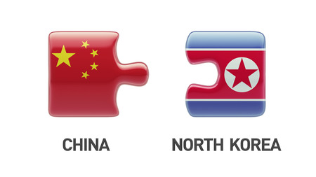 China North Korea High Resolution Puzzle Concept photo