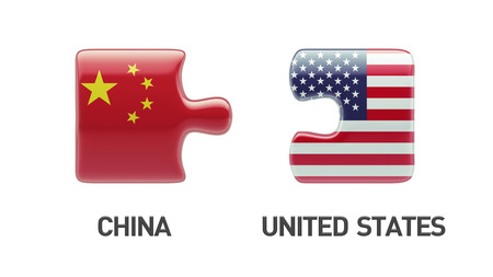 United States China High Resolution Puzzle Concept photo