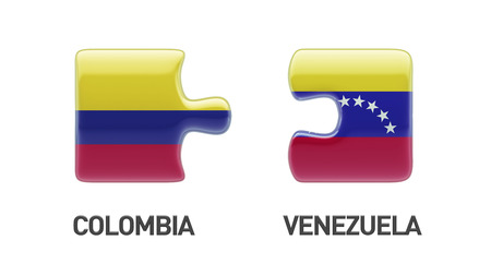 Venezuela Colombia High Resolution Puzzle Concept photo