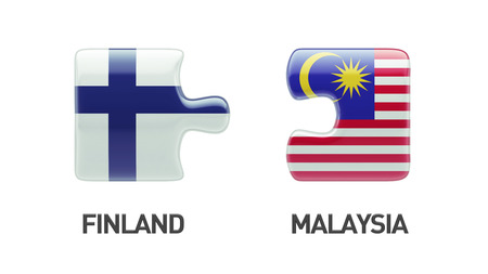 Finland Malaysia High Resolution Puzzle Concept photo