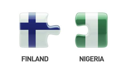 Finland Nigeria High Resolution Puzzle Concept photo