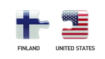 United States Finland High Resolution Puzzle Concept photo