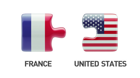 United States France High Resolution Puzzle Concept photo