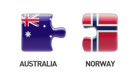 norwegian flag: Norway Australia High Resolution Puzzle Concept