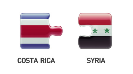 Syria Costa Rica High Resolution Puzzle Concept photo