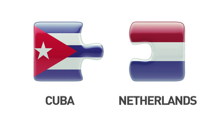 Cuba Netherlands High Resolution Puzzle Concept photo