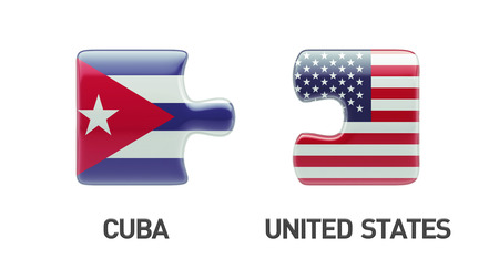 United States Cuba High Resolution Puzzle Concept photo