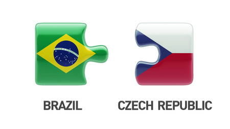 Brazil Czech Republic High Resolution Puzzle Concept photo