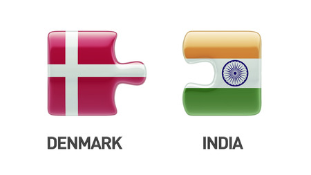 danish flag: Denmark India High Resolution Puzzle Concept