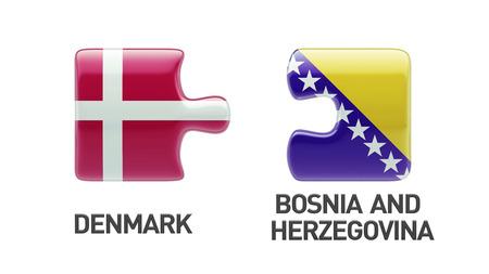 Bosnia and Herzegovina  Denmark High Resolution Puzzle Concept photo