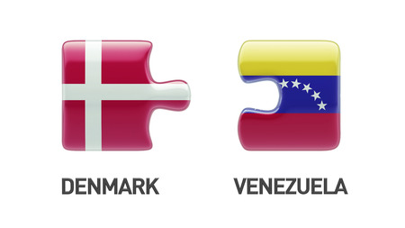 Venezuela Denmark High Resolution Puzzle Concept photo