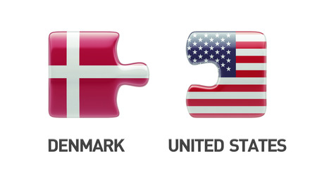 United States Denmark High Resolution Puzzle Concept photo