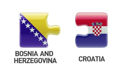 Bosnia and Herzegovina  Croatia High Resolution Puzzle Concept photo