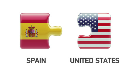 United States Spain High Resolution Puzzle Concept photo