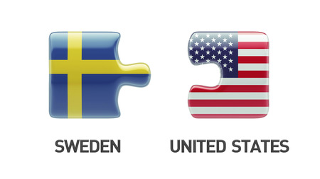 United States Sweden High Resolution Puzzle Concept photo