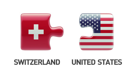 United States Switzerland High Resolution Puzzle Concept photo