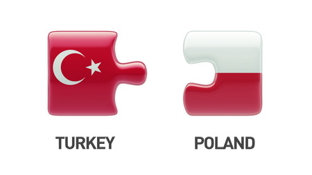 Poland Turkey High Resolution Puzzle Concept photo