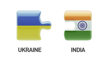 Ukraine India High Resolution Puzzle Concept photo