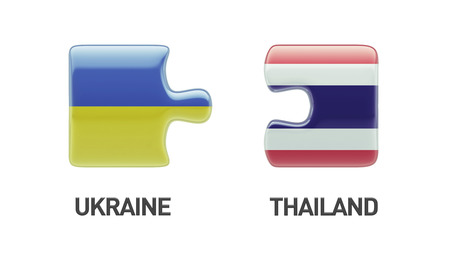 Thailand Ukraine High Resolution Puzzle Concept photo