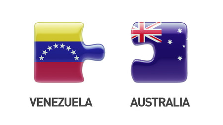 Venezuela Australia High Resolution Puzzle Concept photo