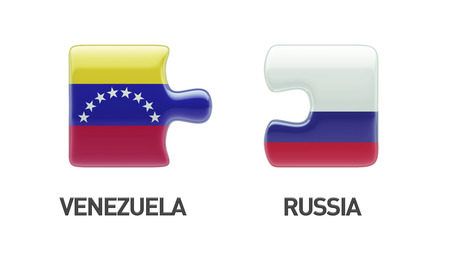 Russia Venezuela High Resolution Puzzle Concept photo