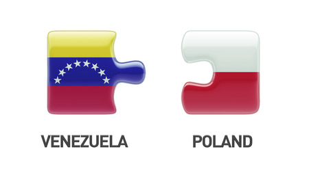 Poland Venezuela High Resolution Puzzle Concept photo