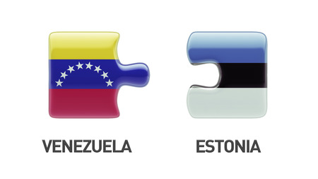 Estonia Venezuela High Resolution Puzzle Concept photo