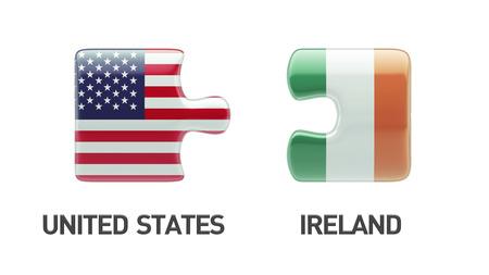 United States Ireland High Resolution Puzzle Concept photo