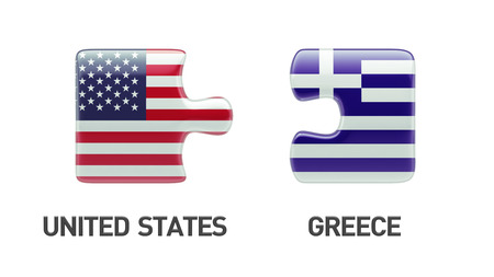 United States Greece High Resolution Puzzle Concept photo