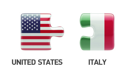 United States Italy High Resolution Puzzle Concept photo