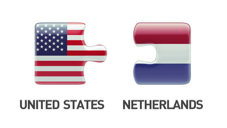 United States Netherlands High Resolution Puzzle Concept photo