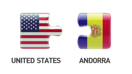 United States Andorra High Resolution Puzzle Concept photo