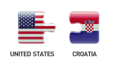 United States Croatia High Resolution Puzzle Concept photo