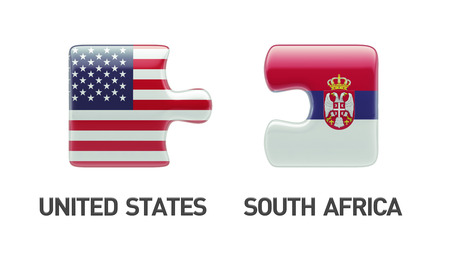 Serbia United States High Resolution Puzzle Concept photo