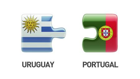 Portugal Uruguay High Resolution Puzzle Concept photo