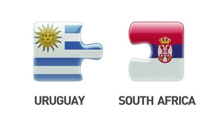 Serbia Uruguay High Resolution Puzzle Concept photo