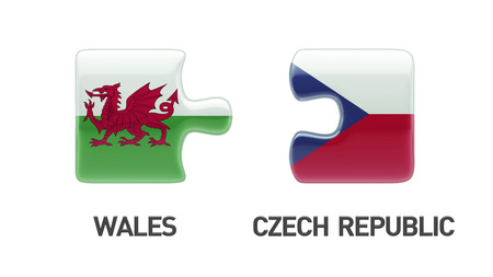 Wales Czech Republic High Resolution Puzzle Concept photo