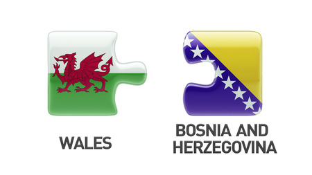 Wales Bosnia and Herzegovina High Resolution Puzzle Concept photo