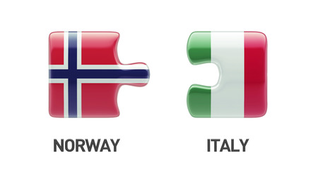 norwegian flag: Norway Italy High Resolution Puzzle Concept