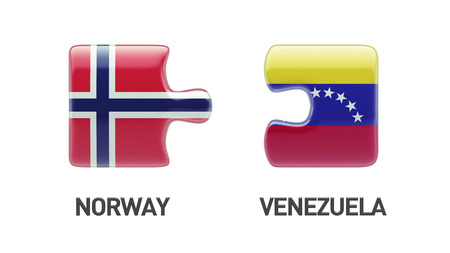 Norway Venezuela High Resolution Puzzle Concept photo