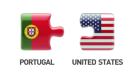 Portugal United States High Resolution Puzzle Concept photo