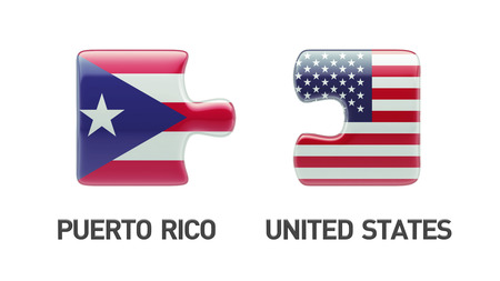 puerto rican flag: Puerto Rico United States High Resolution Puzzle Concept Stock Photo