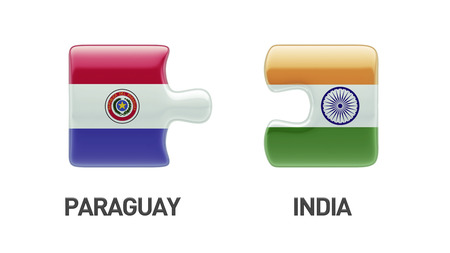 Paraguay India High Resolution Puzzle Concept photo