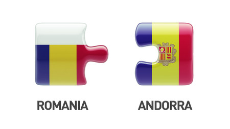 Romania Andorra High Resolution Puzzle Concept photo