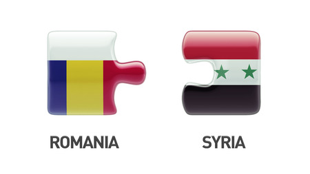 Syria Romania High Resolution Puzzle Concept photo