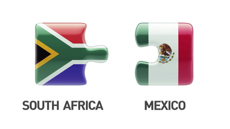 South Africa Mexico High Resolution Puzzle Concept photo