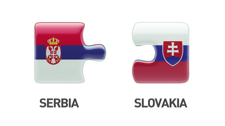 Slovakia Serbia High Resolution Puzzle Concept