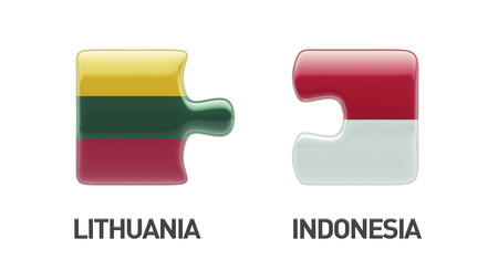 sumatra: Lithuania Indonesia High Resolution Puzzle Concept